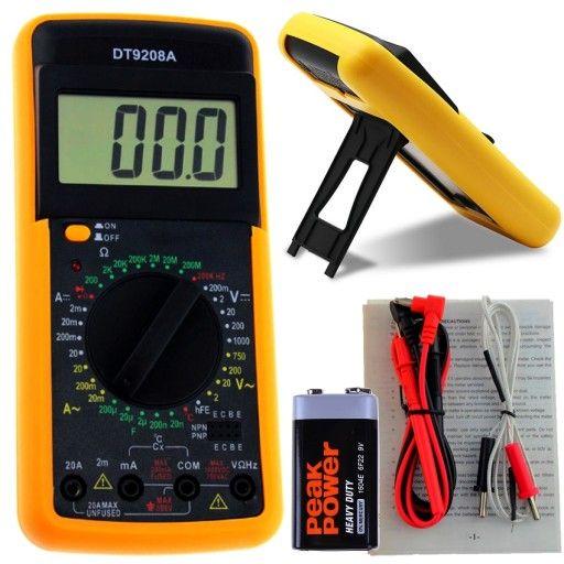 Мултицет DT9208А мултиметър с измерване на температура гр. София - image 1
