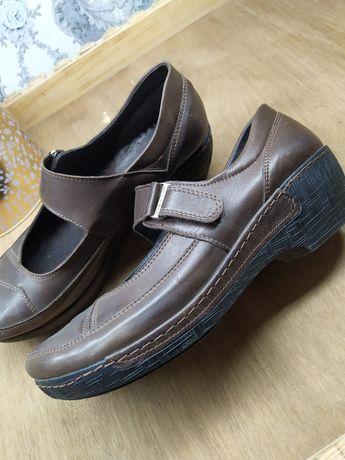 Кожаные туфли для женщины 41 размер Жаркент
