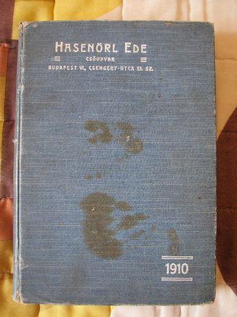 Carte - Catalog tehnic - Hasenorl Ede - Csoudvar, 1910