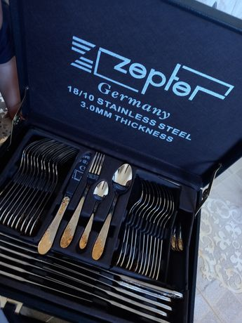 Срочно продам набор столовых  Zepter