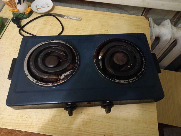 Настольная двухконфорочная электрическая плита Мечта / электроплита