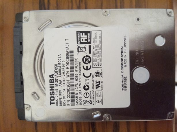 Жёсткий диск 500Gb.