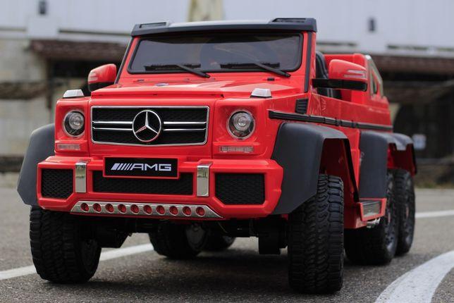 Masinuta electrica Kinderauto Mercedes G63 6x6 Premium #Rosu