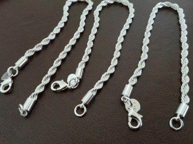 Brățări argint 925, unisex, 21 cm lungime