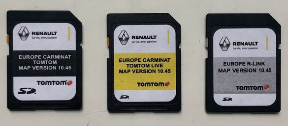 Renault Carminat TomTom R-link TomTom Live 10.45 Sd Card Сд Карта 2021