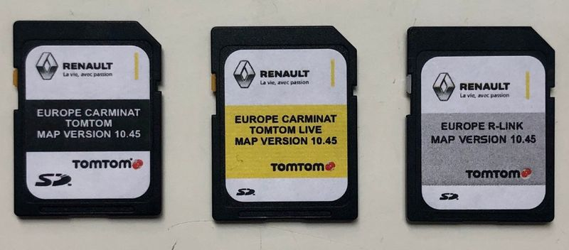 Renault Carminat TomTom R-link TomTom Live 10.45 Sd Card Сд Карта 2021 гр. Пазарджик - image 1