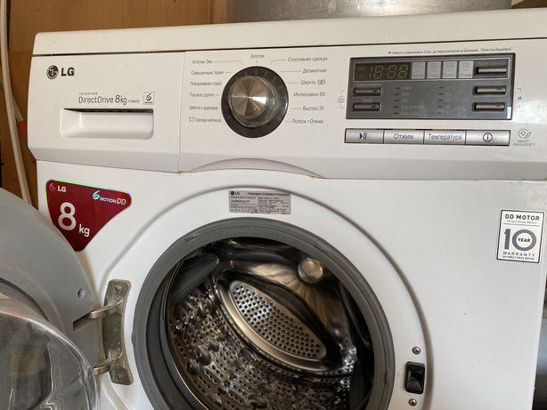 Стандартная стиральная машина c прямым приводом, 8кг