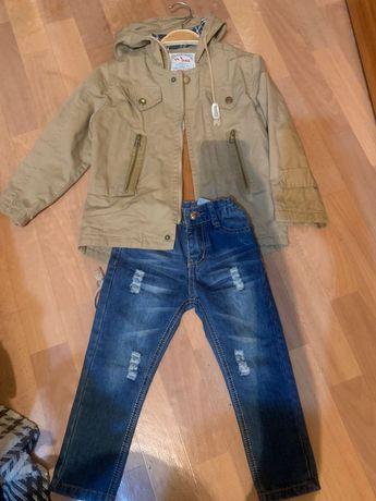 Парка и джинсы на 3-4 года
