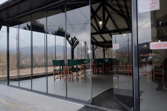 Închidere terasa cu sticla securizata 2m x 6m