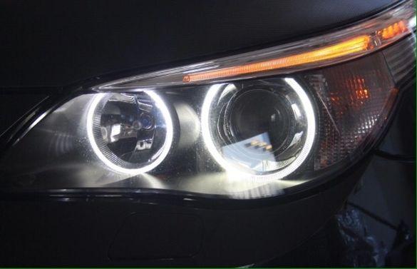 Енджъл айс БМВ Е39 М5 бял BMW E60 M5 до фейслифт 60W 530 М пакет ЛЕД М