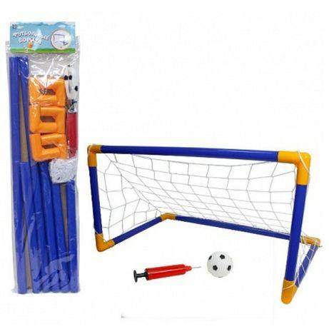 Футбольные ворота 40×60 см с мячом (12 см) и насосом.