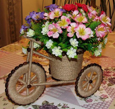 Декоративно колело /триколка, велосипед/ с цветя за декорация /декор/