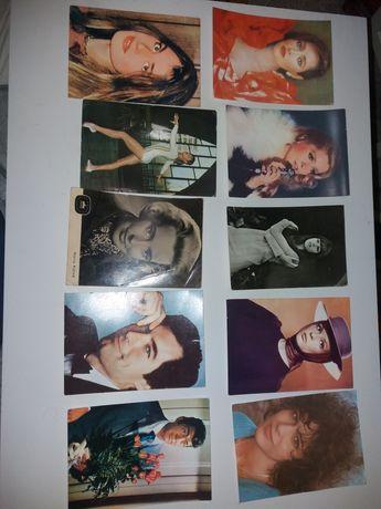 Lot 18 carti poștale actori , artiști, sportivi străini și români