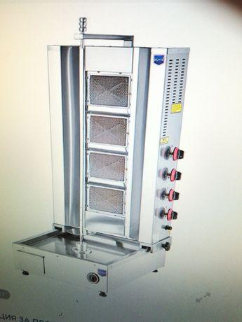 Дюнер машина- СЕ - с долен мотор и защита-СЕ 3горелки, 4горелки