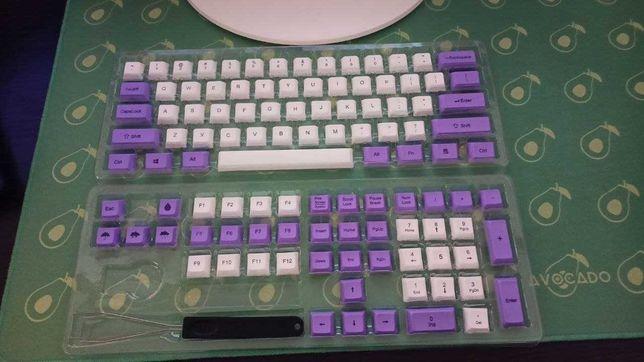 DSA кейкапы Бело-фиолетовые