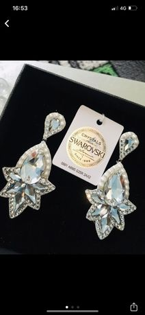 Cercei pietre Swarovski Cristale noi superbi