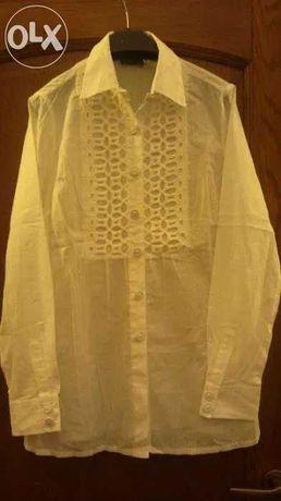 1 bluza/1 camasa bumbac albe, noi, M/L, ieftine