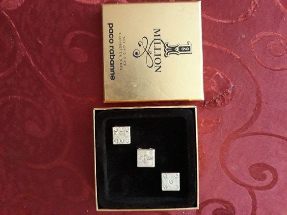Pacо Rabanne Оригинални зарове декоративни, позлатени с диаманти