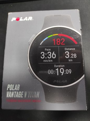 Smartwatch Polar Vantage V Titan Black/Red M-L Model 2X - NOU