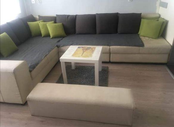 Кожен диван 320/245