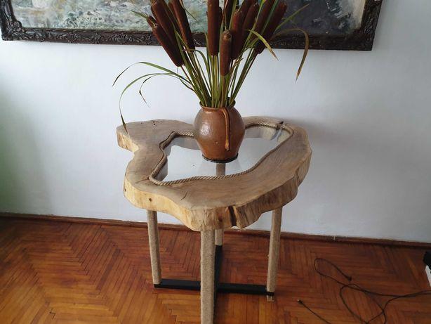 Masa rustica,din lemn de nuc