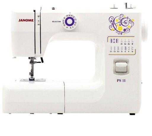 Швейная машинка Janome PS 11 + рулон миллимитровой и эскизной бумаги