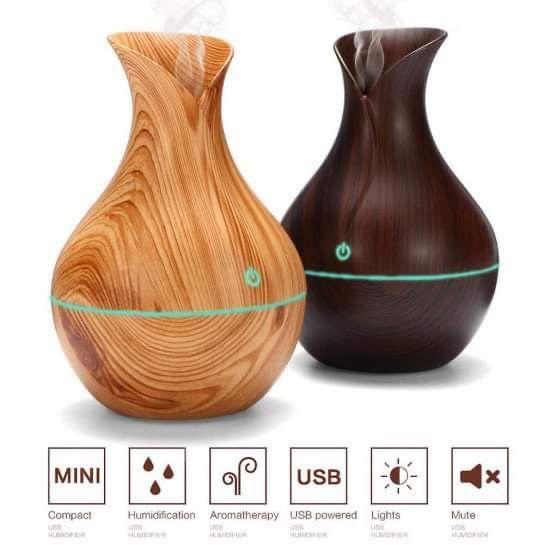 АРОМА ДИФУЗЕР с етерични масла / Овлажнител на въздух