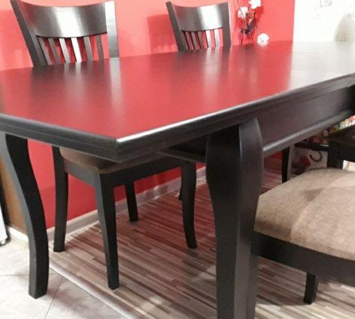 Дървена маса цвят венге
