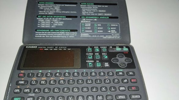 Retro vintage working Casio digital diary  SF 4300 A