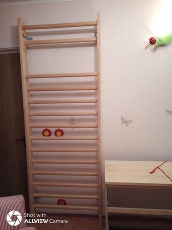 Spalier gimnastica medicala 14 trepte lemn masiv fag Germania