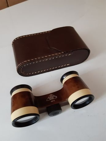 Binoclu,,CP GOERZ WIEN serie4973,,din ebonita,cu reglaj si cutie piele