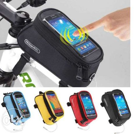 Geanta impermeabila/husa touch screen telefon pt. cadru bicicleta L