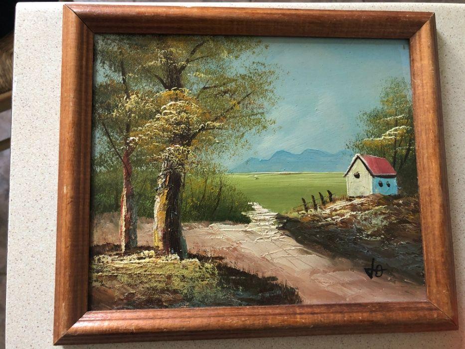 Tablou,pictura franceza in ulei pe lemn,rama din lemn Arad - imagine 1