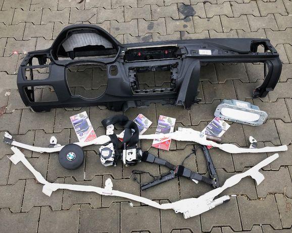 BMW seria 3 F30 F34 F32 F36 F31 kit airbag volan pasager plansa bord