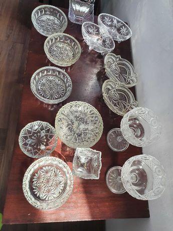 Полухрустальные винтажные посуды