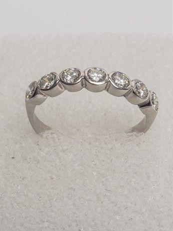 Inel semi-eternity diamante naturale Certificat