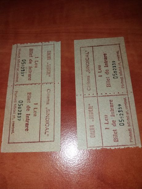 Bilete de cinema anii 70 colectie