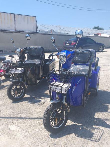 Нов модел !!! Триколка електрическа с 2 места 1500 W скутер
