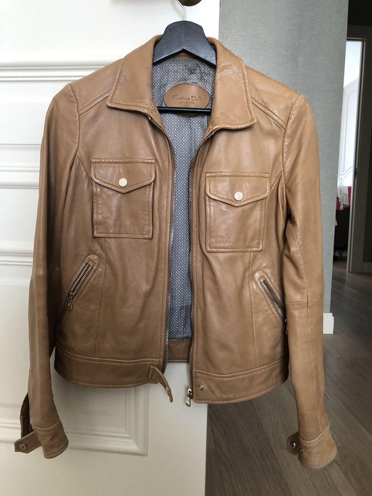 Женская кожаная куртка Massimo dutti(S)