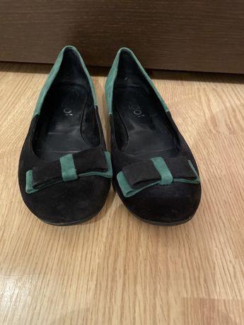 Pantofi-balerini piele intoarsa 36