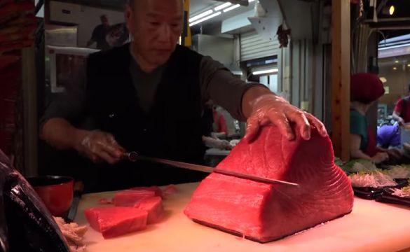Японски нож Bunmei  Takobiki Sashimi ,включена доставка