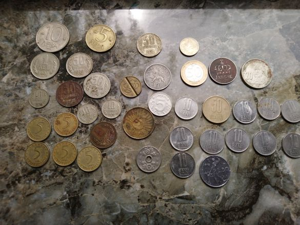 Лот монети, стари, смесени 37бр.