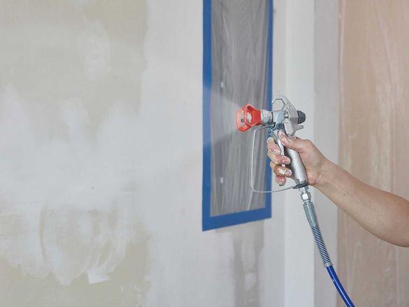 Машинно боядисване и шпакловане