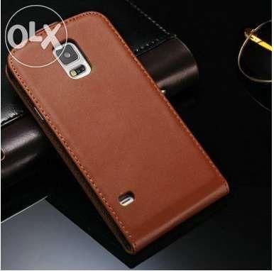Husa Eleganta TOC PIELE FLIP MARO Samsung Galaxy S5 G900 + Folie