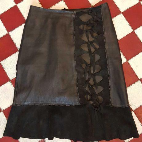 Кожаная юбка Moschino р-р 44-46