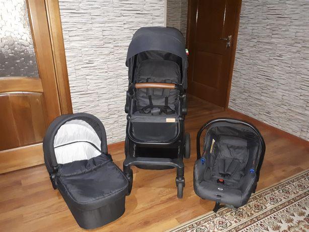 Коляска 3 в 1 с рождения (живое фото коляски)