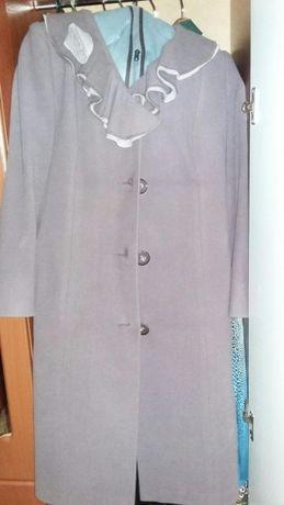 Женское кошемированное пальто с поясом