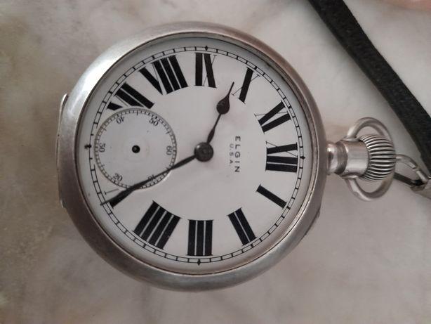 Elgin ceas buzunar argint