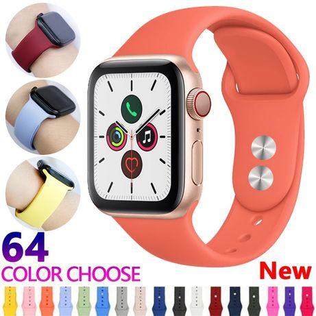 Curea Ceas Appple Watch 38/40/42/44mm Din Silicon Fin Diferite Culori