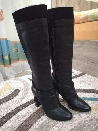 JOOP!!! Дамски ботуши естествена кожа. Италиански 100% оригинал